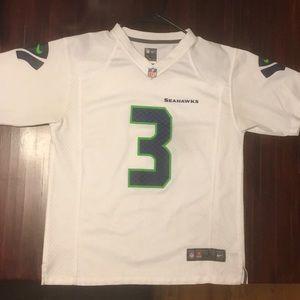 Women Large Seahawks Jersey NFL Nike Wilson